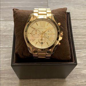Michael Kors Gold Oversized Bradshaw Watch.
